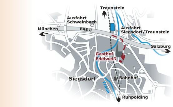 Hotel Gasthof Edelweiß Anfahrt